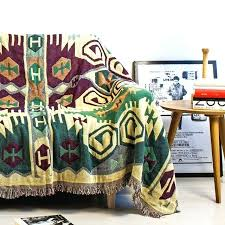 green throws for sofa vintage tassels dark green woven soft sofa blankets throws rugs sofa cover green throws