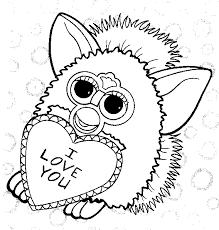 Gratis Furby Kleurplaten Voor Kinderen 3
