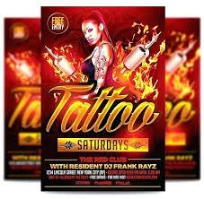 Tattoo Party Flyer Template Free Best Website Design