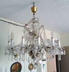 brooklyn ny pick up only large vintage crystal chandelier 12 light fixtures