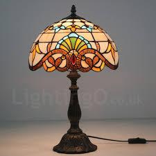 hot 12 inch european retro tiffany table lamp baroque lamp shade living room dinning room