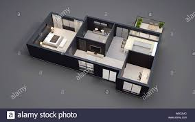 House Plan And Design Blueprint Modern Interior Design Isolated Floor Plan With Black Walls