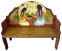 painted mexican furnitureRustic Mexican Furniture  Talavera  Mexican Furniture and Pottery