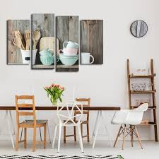 on wall art canvas shabby chic with shabby chic kitchen multi panel canvas wall art elephantstock