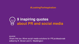 Pr Quotes Fascinating 48 Inspiring Quotes About PR And Social Media