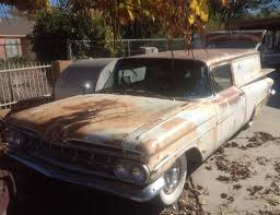 Rusty Runner: 1959 Chevrolet Biscayne Sedan Delivery | Bring a Trailer