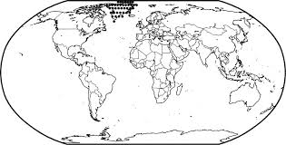 World Map Coloring Pages World Map Coloring Page To Color Labeled