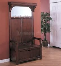 Antique Hall Coat Rack Hall Tree Storage Bench With Mirror Foter 18