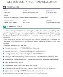 Brilliant and creative it professional with bachelor's degree in information technology and. Free 7 Sample Front End Developer Resume Templates In Ms Word Pdf