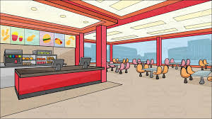 inside fast food restaurants. Delighful Fast Inside A Fast Food Chain Restaurant Background With Fast Food Restaurants Vector Toons