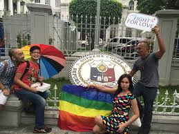 student from woodrose says love not enough for gay marriage speqtrum a group of participants of the metro manila pride on 27 poses in front