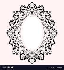 oval frame design. Lace Oval Frame Vector Image Design R