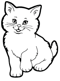 black and white cat clipart. Cat Clip Art Black And White Cute Fat Drawing At Jpg Download In Clipart