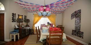 home party decoration ideas of goodly st birthday baby pics