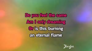 Eternal Flame Bangles Karaoke Eternal Flame The Bangles Youtube