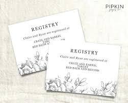 baby shower registry cards template free gift registry template danielmelo info