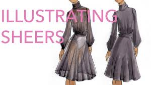 Fashion Illustration Tutorial: Sheer Fabrics   YouTube