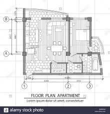 Modern Apartments Floor Plans Design Floor Plan Of A Modern Apartment Interior Design With