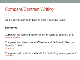 fundamentals of writing today compare contrast writing 3 compare contrast
