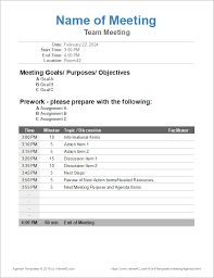 Outlook Meeting Agenda Template 10 Free Meeting Agenda Templates Word And Google Docs