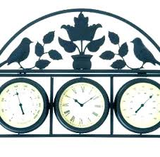 outside wall thermometer decorative outdoor clocks clock and large garden barometer hygrometer asda