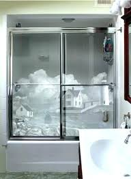 frosted glass shower doors attractive etched door cleaning