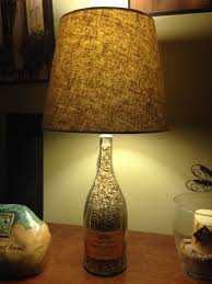 chic and stylish diy wine bottle table lamp idea