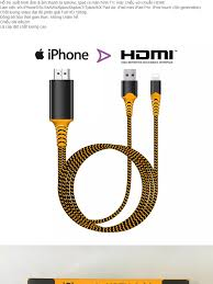 Cáp hdmi cho iphone Cáp kết nối Iphone Ipad với Tivi cổng HDMI - Lightning  to HDTV - Hàng cao cấp