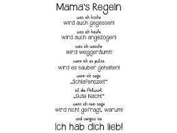 Wandtattoo Mamas Regeln Wandtattoode