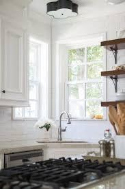 Kitchen backsplash window detail