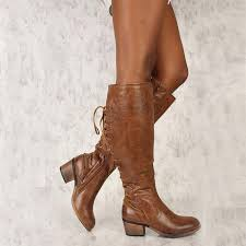 knee high long boots women autumn winter faux leather thick heels shoes las cross tied punk riding boots plus size botas womens ankle boots leather boots
