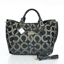 Coach C Signature Large Black Satchels ESP