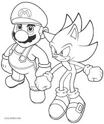 Sonic And Mario Coloring Pages Sonic Printable Coloring Pages Metal