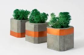 Set <b>3</b>. <b>Concrete</b> Succulent Planter with moss, <b>Storage Box</b>, Jewelry ...