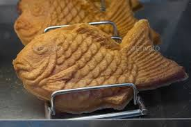 Fresh Baked Taiyaki Japanese Fish Shaped Cake Stock Photo By