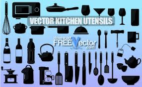 kitchen utensils silhouette vector free. Downloadfreevector.com. Download Free Vector Kitchen Utensils Silhouette S
