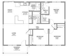 Small houses  Floor plans and A small on PinterestFloor Plan for Affordable   sf House   Bedrooms and Bathrooms