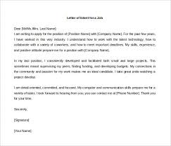 Letter Of Intent For Employment Template Ajrhinestonejewelry Com