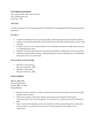 accounting assistant resume template sample ms word