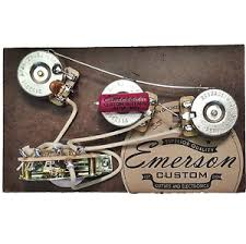 details about emerson custom 5 way strat prewired kit 250k wiring harness pots made in usa