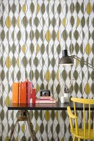 ... Engaging Home Interior Wall Decor With Scandinavian Wallpaper Design :  Delectable Modern Home Office Decoration Using ...