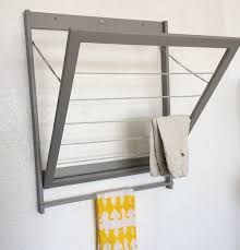 modern laundry drying rack with towel