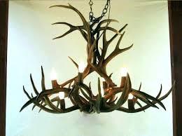 antler chandelier ceiling fan light kits for fans kit horn deer lovely chandeliers
