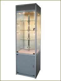 Metal Glass Display Cabinet High Gray Metal Glass Door Display Cabinets Of Amazing Glass Door