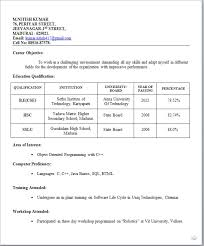 Resume Templates For Freshers Best of Resume Templates For Freshers Fastlunchrockco