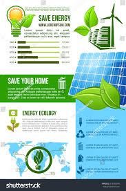 Energy Ecology Conservation Vector Infographics Graph Stock