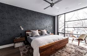 black patterned wallpaper