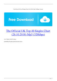 Top 10 Singles Uk Charts This Week The Official Uk Top 40 Singles Chart 26 10 2018 Mp3