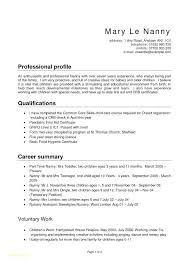 Nanny Resume Objective Sample