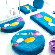 5 piece bathroom rug sets modern circles stripes black ivory 3 shower ensemble bath set orange